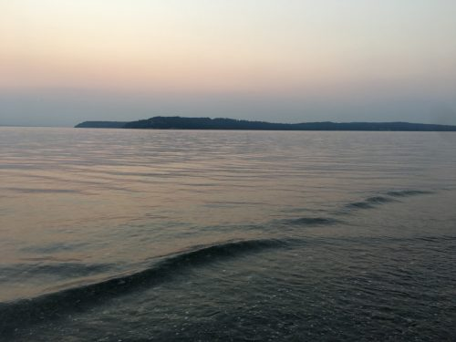 Looking across the sound at Whidbey Island.